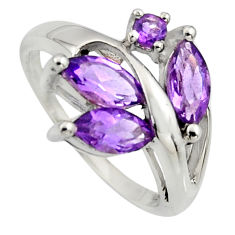 5.95cts natural purple amethyst 925 sterling silver ring jewelry size 8 r7521