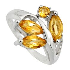5.63cts natural yellow citrine 925 sterling silver ring jewelry size 7.5 r7532