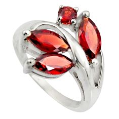 5.63cts natural red garnet 925 sterling silver ring jewelry size 6 r7533