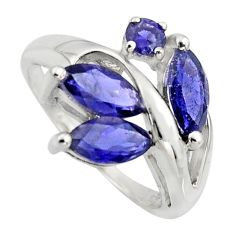 5.64cts natural blue iolite 925 sterling silver ring jewelry size 8 r7539