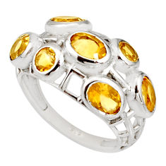 925 sterling silver 5.75cts natural yellow citrine ring jewelry size 7 r7544