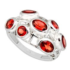 6.18cts natural red garnet 925 sterling silver ring jewelry size 7 r7554