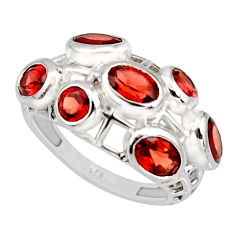 925 sterling silver 6.18cts natural red garnet ring jewelry size 8 r7555