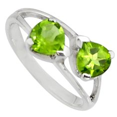 2.00cts natural green peridot 925 sterling silver ring jewelry size 8.5 r7562