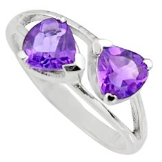 925 sterling silver 1.88cts natural purple amethyst ring jewelry size 6 r7564
