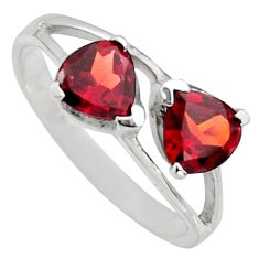925 sterling silver 1.85cts natural red garnet ring jewelry size 5.5 r7572