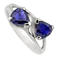 925 sterling silver 1.85cts natural blue iolite ring jewelry size 6.5 r7580