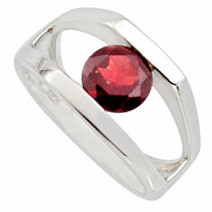 2.62cts natural red garnet 925 sterling silver solitaire ring size 6.5 r7674