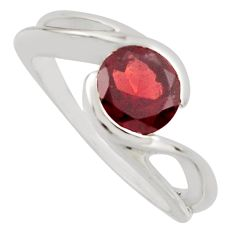 2.32cts natural red garnet 925 sterling silver solitaire ring size 8.5 r7694