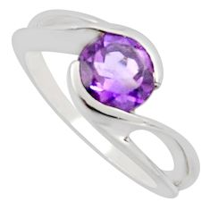 2.19cts natural purple amethyst 925 silver solitaire ring jewelry size 6.5 r7696