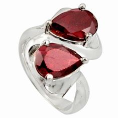 5.68cts natural red garnet 925 sterling silver ring jewelry size 9 r7726