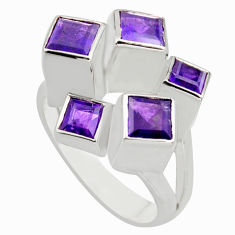 3.27cts natural purple amethyst 925 sterling silver ring jewelry size 8.5 r7761