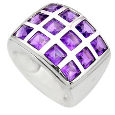 6.43cts natural purple amethyst 925 sterling silver ring jewelry size 5.5 r7786