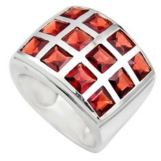 6.54cts natural red garnet 925 sterling silver ring jewelry size 6.5 r7796