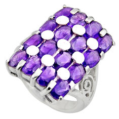 925 sterling silver 16.37cts natural purple amethyst ring jewelry size 6 r7804