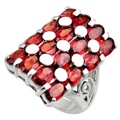 18.05cts natural red garnet 925 sterling silver ring jewelry size 9 r7812