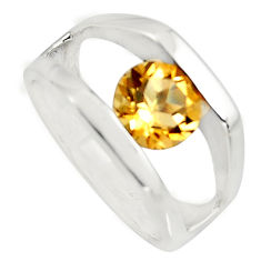 2.51cts natural yellow citrine 925 sterling silver ring jewelry size 5.5 r7821