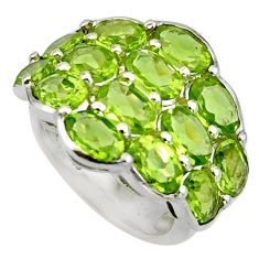 15.00cts natural green peridot 925 sterling silver ring jewelry size 5.5 r7823