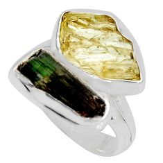 9.47cts scapolite tourmaline rough tourmaline rough silver ring size 6.5 r8624