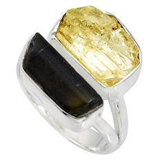 925 silver 9.47cts scapolite tourmaline rough tourmaline rough ring size 6 r8625