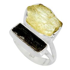 9.85cts scapolite tourmaline rough tourmaline rough 925 silver ring size 6 r8627