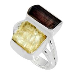 925 silver 9.86cts scapolite tourmaline rough tourmaline rough ring size 7 r8630