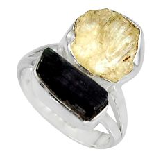 9.45cts scapolite tourmaline rough tourmaline rough 925 silver ring size 7 r8632