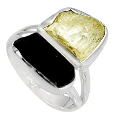 9.47cts scapolite tourmaline rough tourmaline rough 925 silver ring size 7 r8637