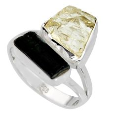 925 silver 9.04cts scapolite tourmaline rough tourmaline rough ring size 8 r8640