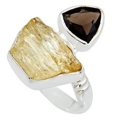 925 sterling silver 9.65cts scapolite smoky topaz ring jewelry size 8 r8649