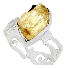 6.39cts scapolite fancy 925 sterling silver ring jewelry size 8 r8663