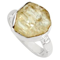 7.71cts scapolite 925 sterling silver solitaire ring jewelry size 7 r8788