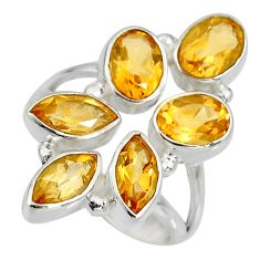 8.42cts natural yellow citrine 925 sterling silver ring jewelry size 8 r8912