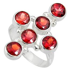 4.82cts natural red garnet 925 sterling silver ring jewelry size 8 r8933
