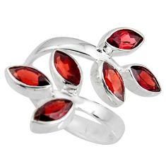 11.22cts natural red garnet 925 sterling silver adjustable ring size 9.5 r8959