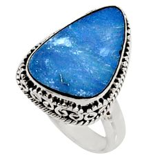 6.03cts natural blue doublet opal australian silver solitaire ring size 7 r9167
