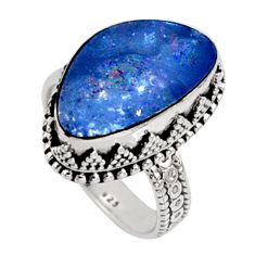 925 silver 6.62cts natural doublet opal australian solitaire ring size 7.5 r9178