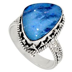925 silver 6.48cts natural doublet opal australian solitaire ring size 8.5 r9186