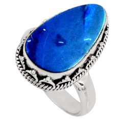 925 silver 6.48cts natural doublet opal australian solitaire ring size 7.5 r9196