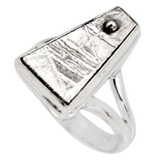 925 silver 10.01cts natural grey meteorite gibeon solitaire ring size 8 r9511