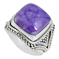 7.78cts natural purple tiffany stone 925 silver solitaire ring size 7.5 r9765
