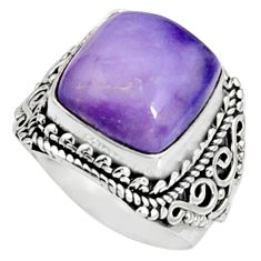 7.78cts natural purple tiffany stone 925 silver solitaire ring size 7 r9768