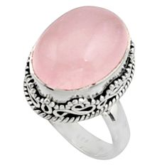 10.89cts natural pink morganite 925 silver solitaire ring jewelry size 7 r9802