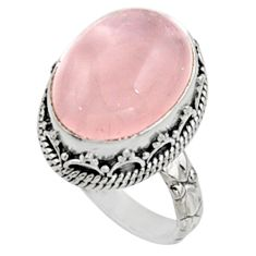 11.54cts natural pink morganite 925 silver solitaire ring jewelry size 7 r9806