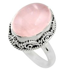 11.12cts natural pink morganite 925 silver solitaire ring jewelry size 8 r9808