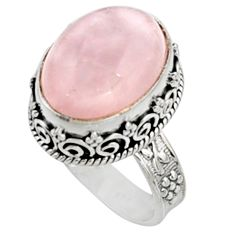 925 silver 11.75cts natural pink morganite solitaire ring jewelry size 8 r9811