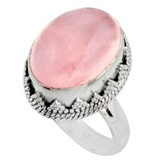 10.89cts natural pink morganite 925 silver solitaire ring jewelry size 8 r9812