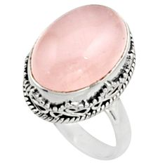 13.55cts natural pink morganite 925 silver solitaire ring jewelry size 8.5 r9813