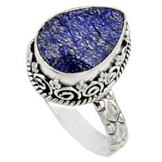 6.76cts natural blue sapphire 925 sterling silver solitaire ring size 8.5 r9893