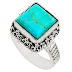 925 silver 5.83cts green arizona mohave turquoise solitaire ring size 7 r9920